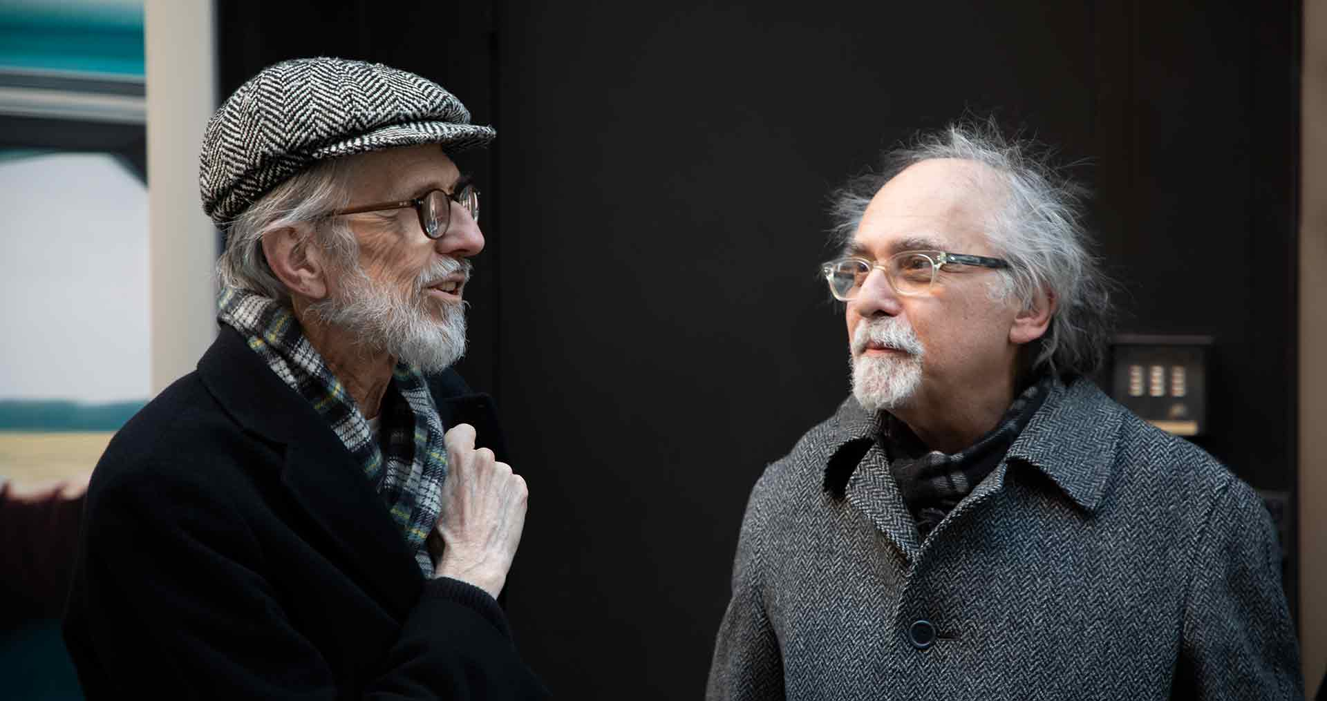 A photo of R. Crumb and Art Spiegelman in New York, dated 2019.