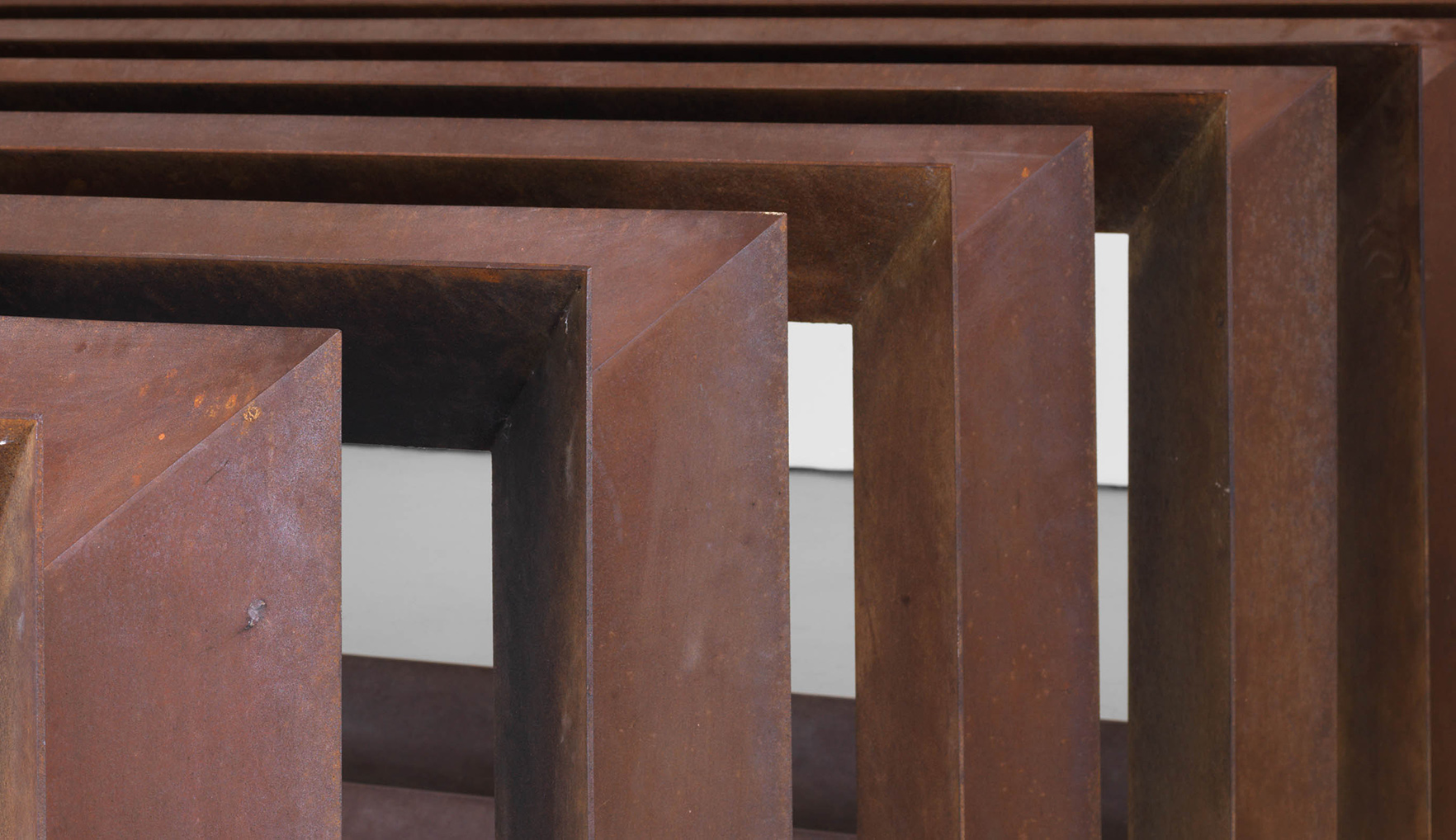 A detail from an untitled artwork by Donald Judd, dated 1979.