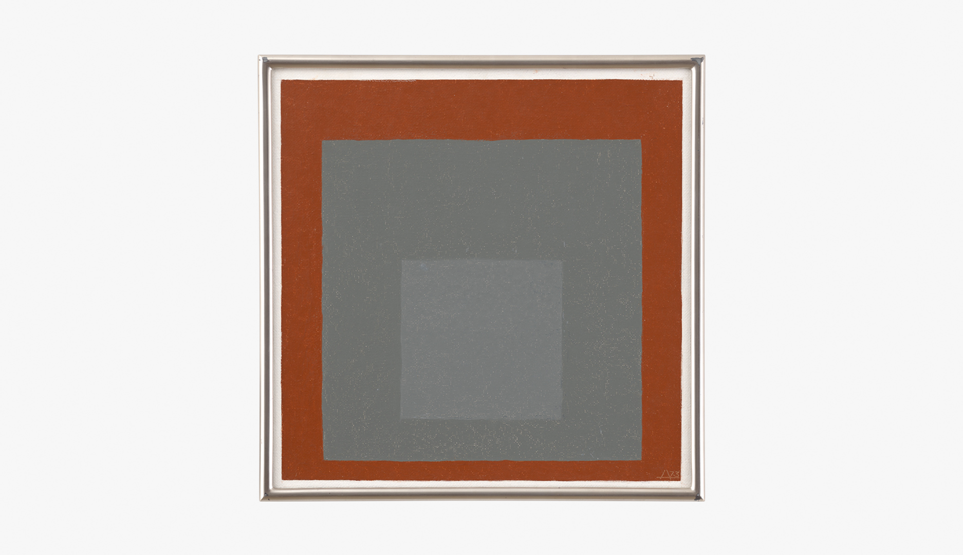 A painting by Josef Albers, titled Study for Homage to the Square, dated 1973.