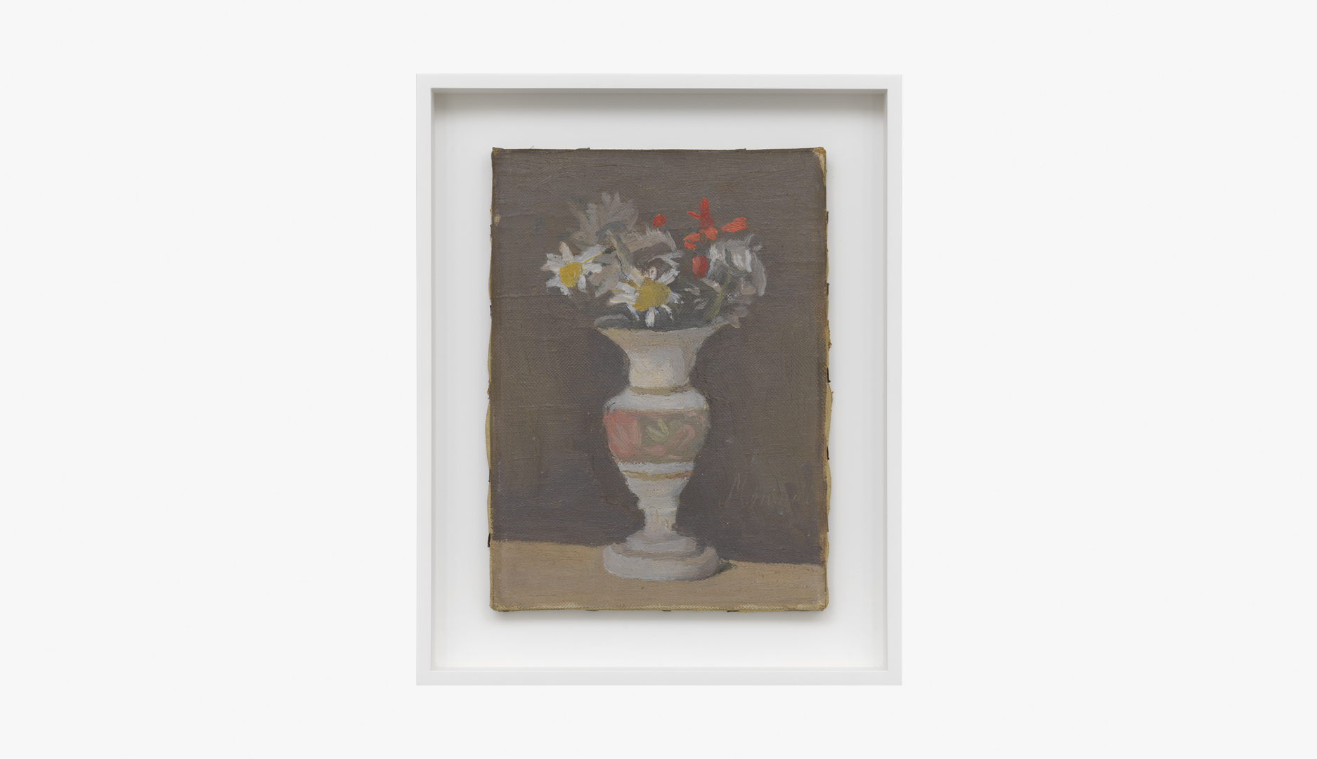 A painting by Giorgio Morandi, titled Fiori (Flowers), dated 1947.