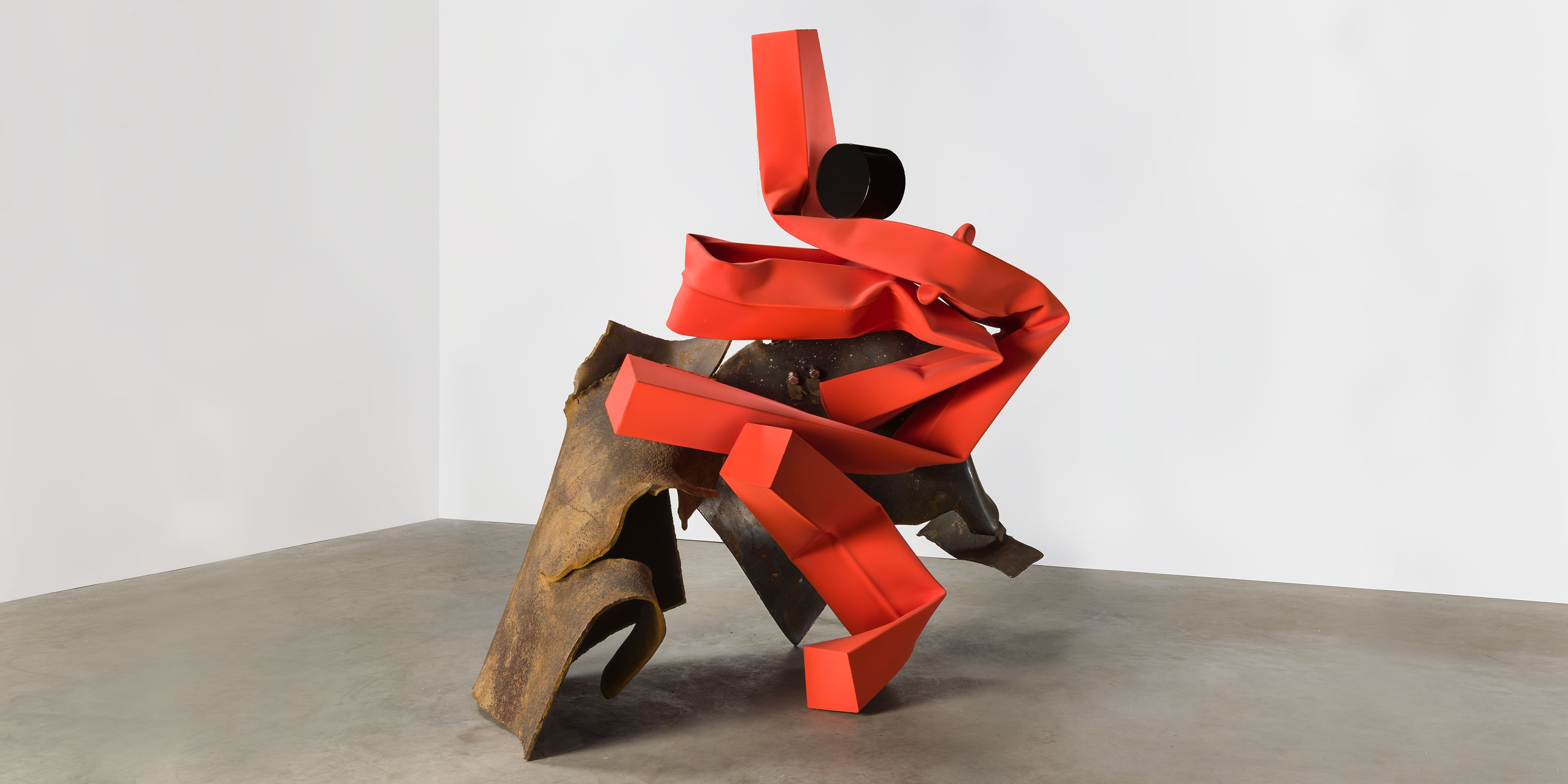 A sculpture by Carol Bove, titled Teresa, dated 2017.