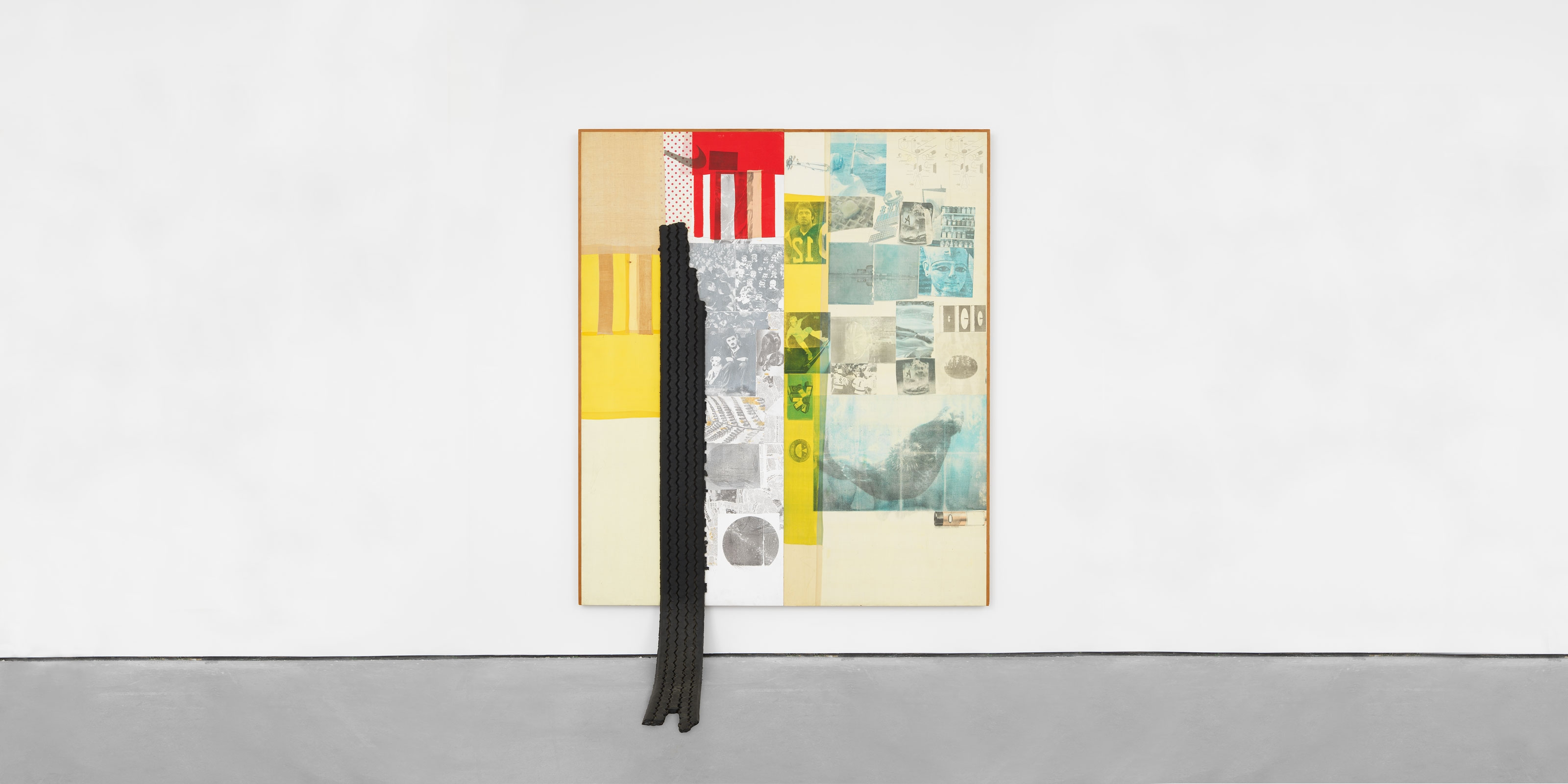 A painting by Robert Rauschenberg, titled Thunderhead Spread, dated 1978.