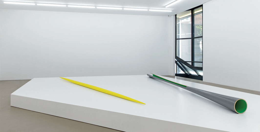 A photograph of Installation view, Isa Genzken: Works from 1973 to 1983, Kunstmuseum Basel, 2020