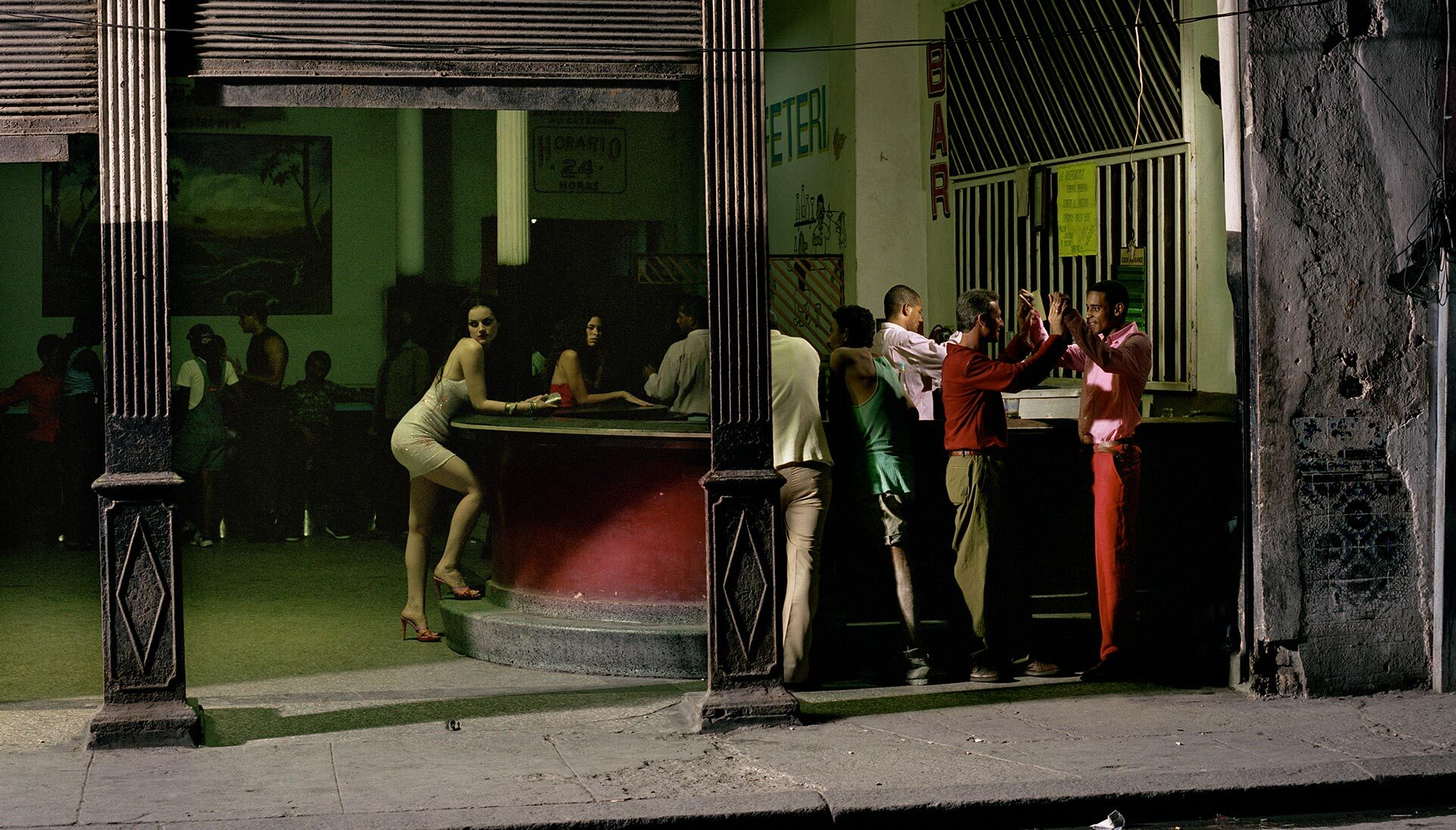 A print by Philip-Lorca diCorcia, W, March 2000, #12, 2000 (detail). for a news piece.