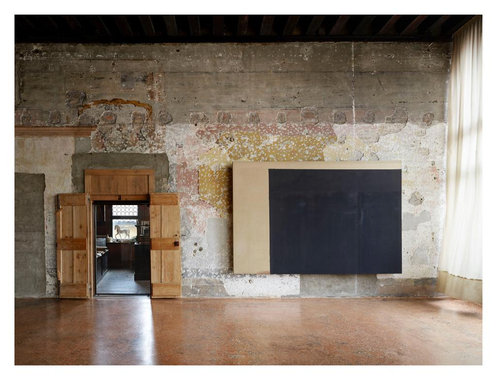 Installation view of Yun Hyong-keun, A retrospective at Palazzo Fortuny in Venice, dated 2019.