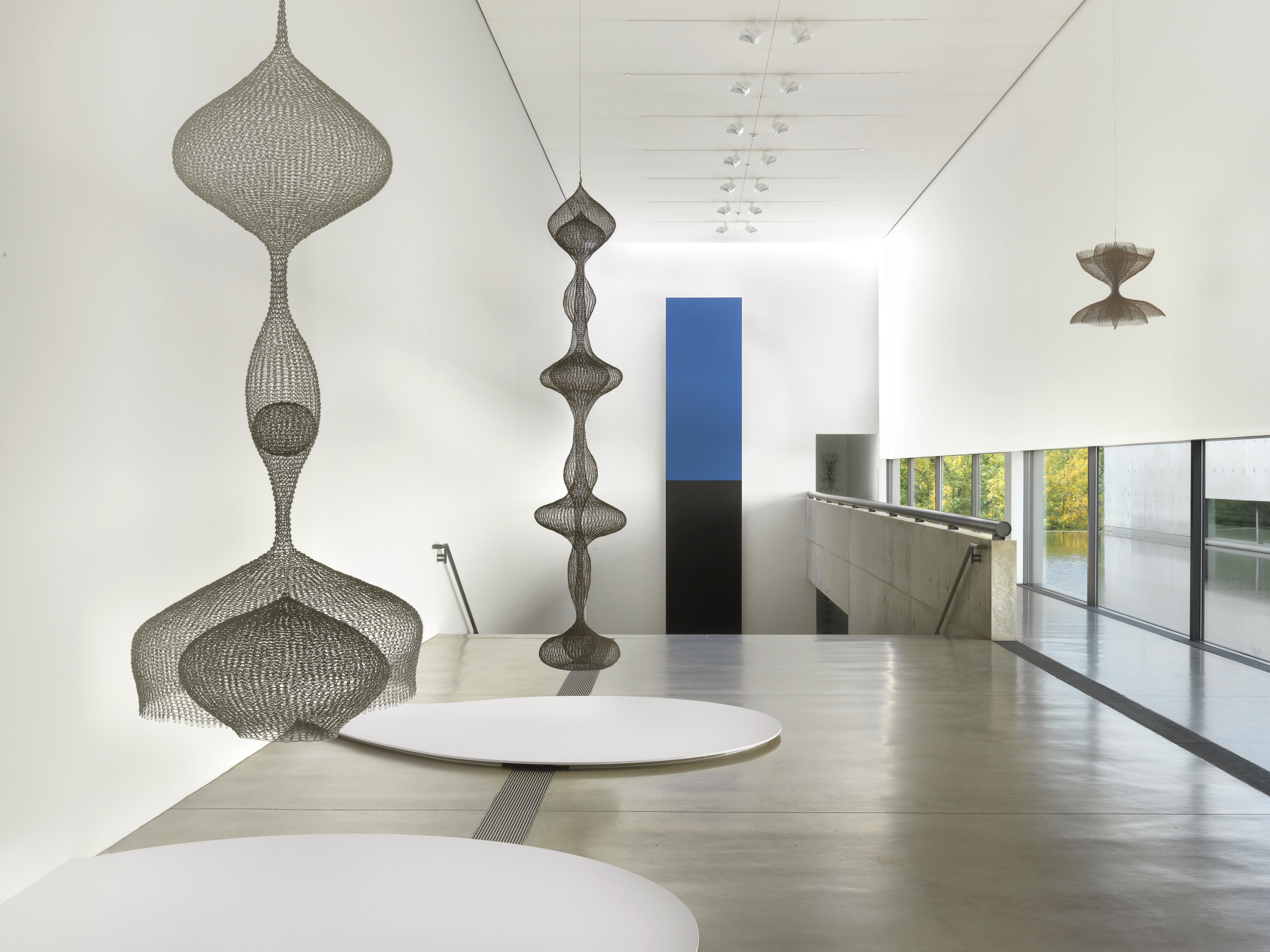 Installation view of the exhibition, Ruth Asawa: Life's Work, at the Pulitzer Arts Foundation in St. Louis, dated 2018.