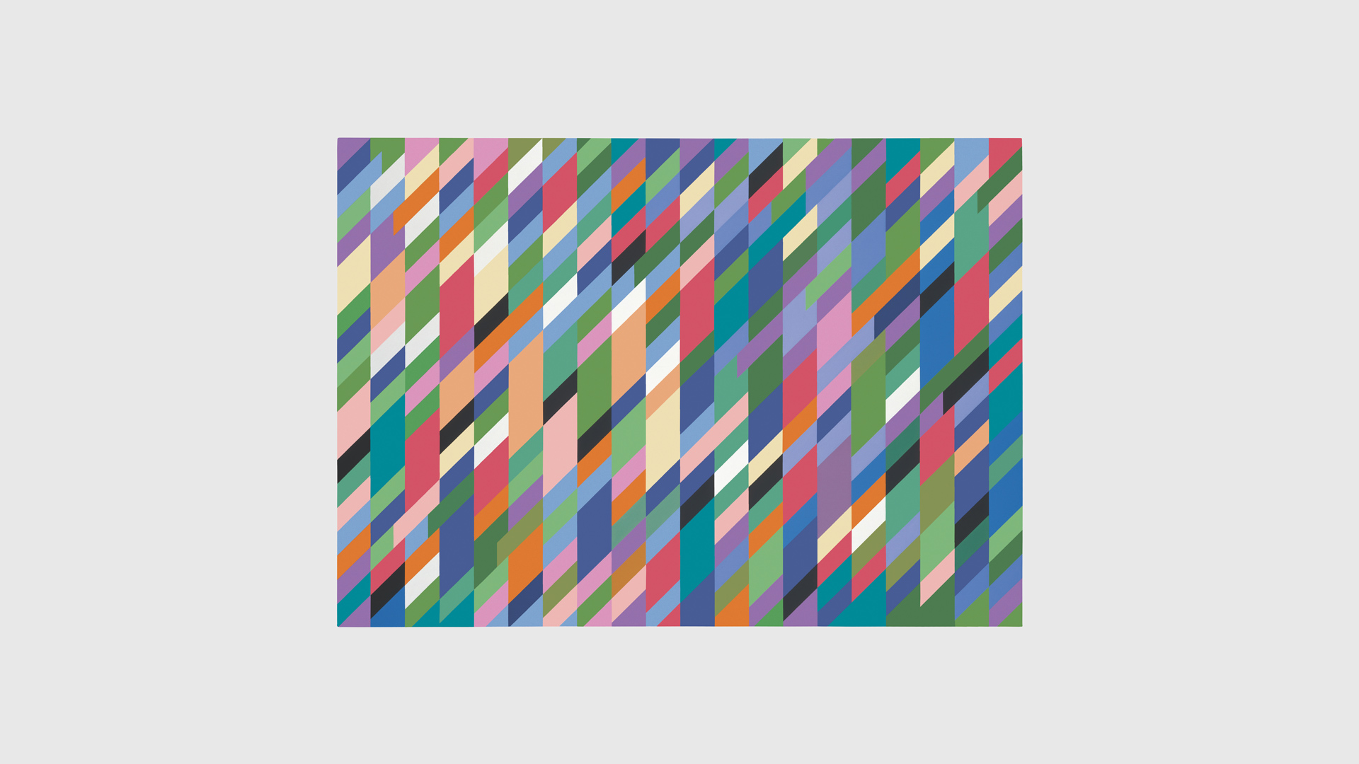 A painting by Bridget Riley, titled High Sky, dated 1991.