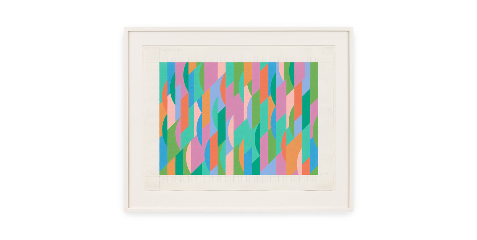 A study by Bridget Riley, titled 10th Aug Revision of July 8, dated 1997.