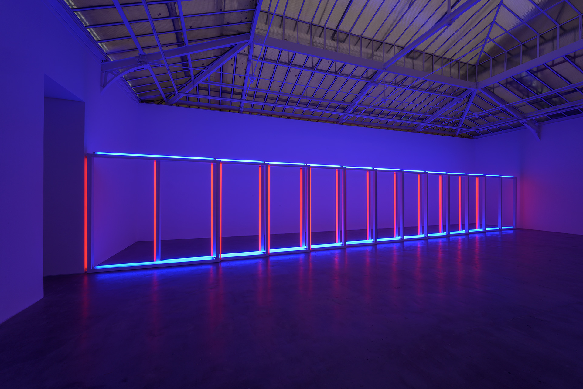 An untitled work by Dan Flavin, dated 1970.