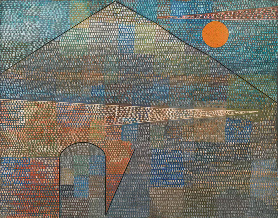 A painting by Paul Klee titled Ad Parnassum, dated 1932.