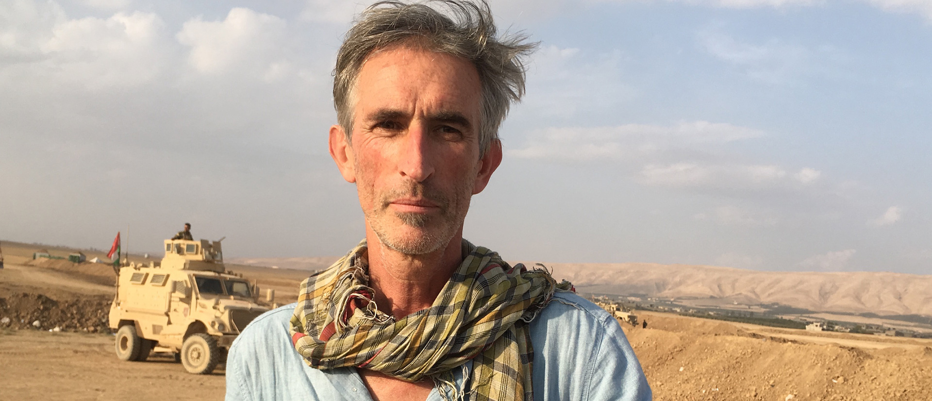 A photo of Francis Alÿs in Mosul, dated 2016.