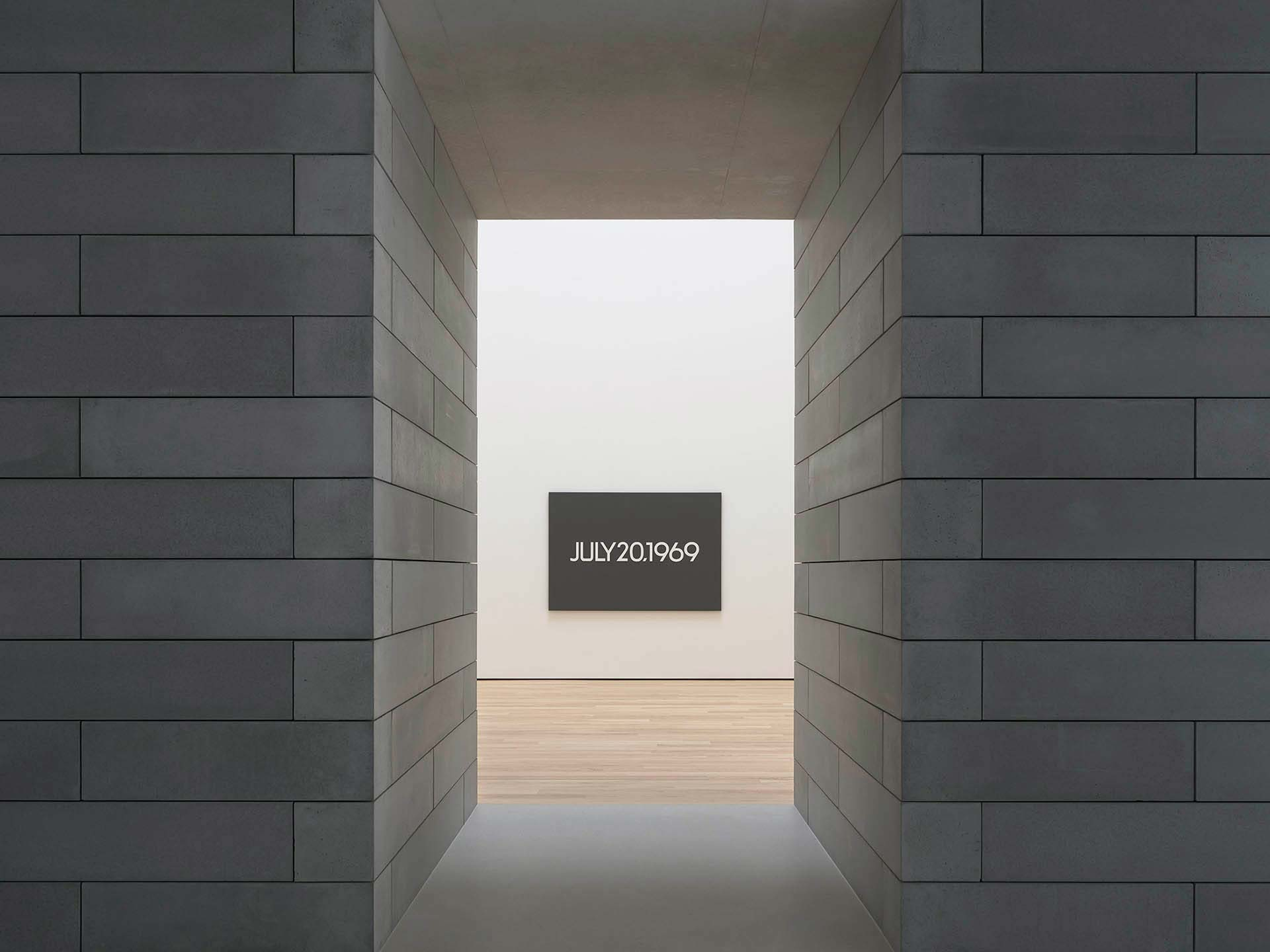 A painting by On Kawara, titled Moon Landing, dated 1969.