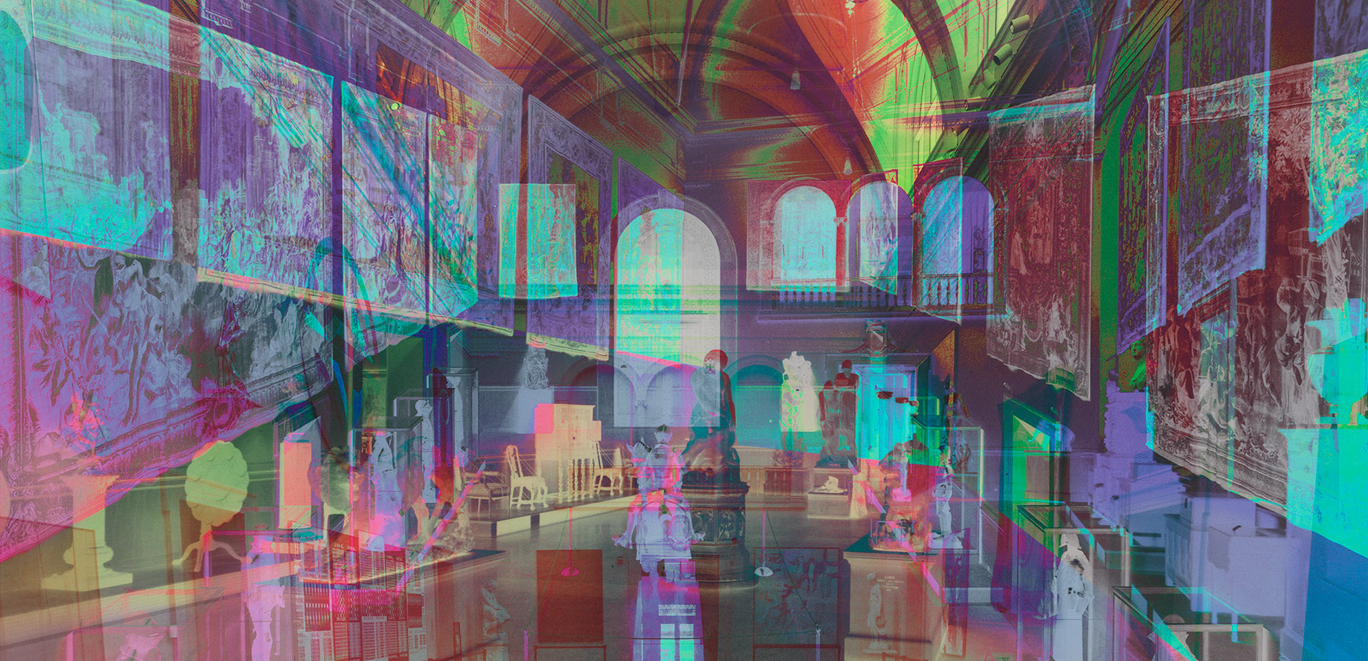 A detail of a photo by James Welling, titled Morgan Great Hall, dated 2015.