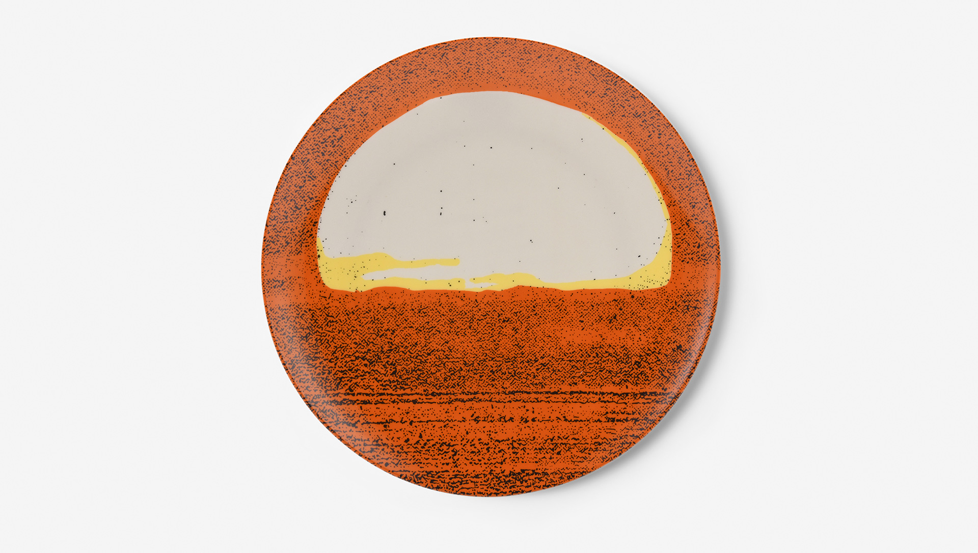 A limited edition plate by Nate Lowman, titled Blaze of Glory (Pantone Variation), dated 2012/2020.