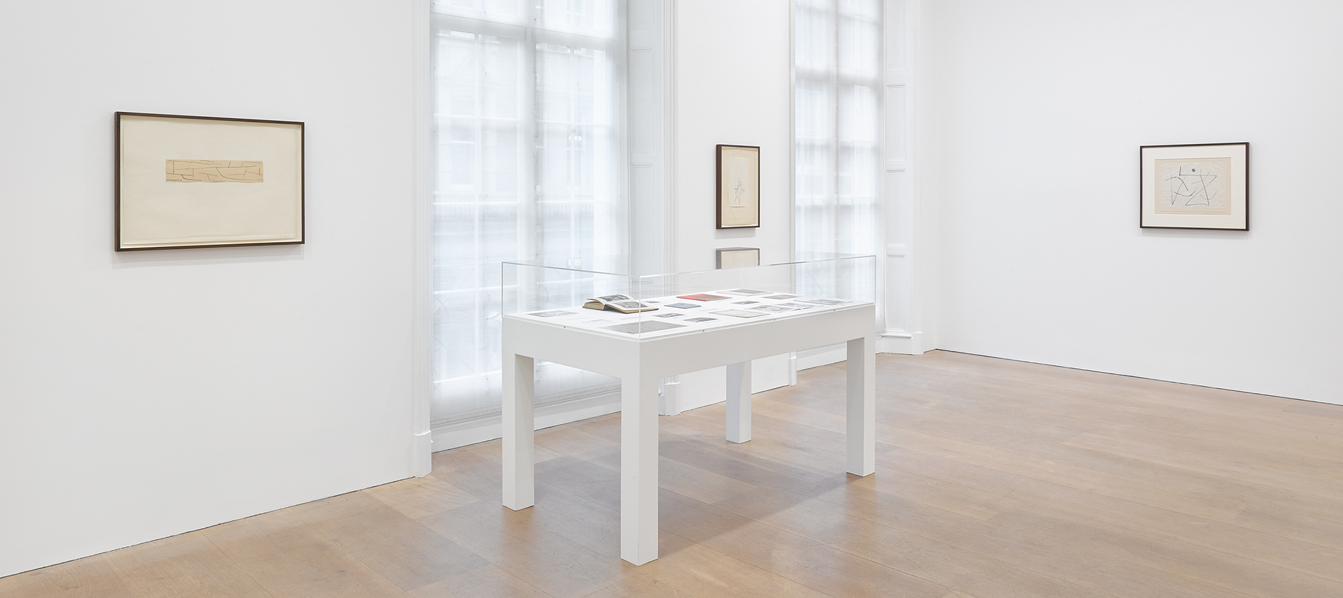 An installation view of the exhibition Paul Klee: Late Klee, at David Zwirner Lonon in 2020.
