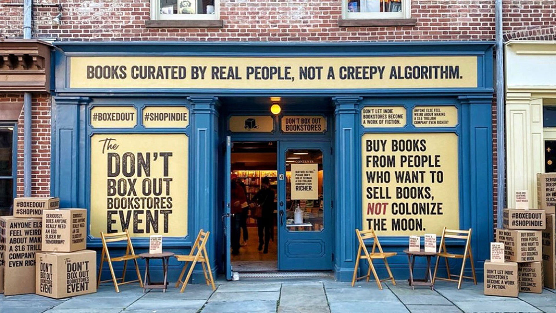 A photo of McNally Jackson bookstore in New York.
