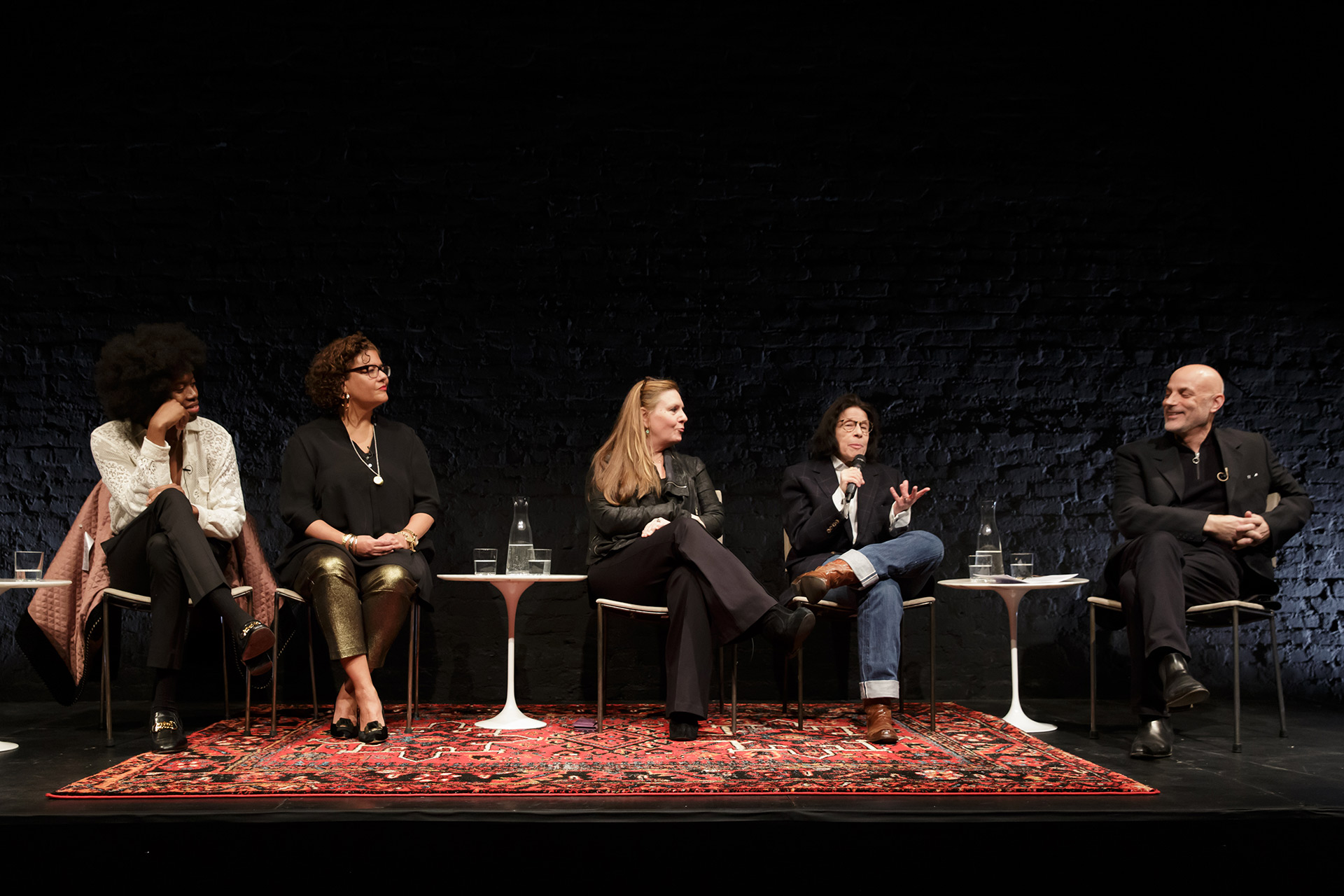 A photo of the panel at the recent Power culture talk titled the power of the artist, which took place at the kitchen in new york in february 2020.